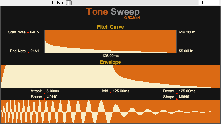 Tone Sweep JSFX 概述页面