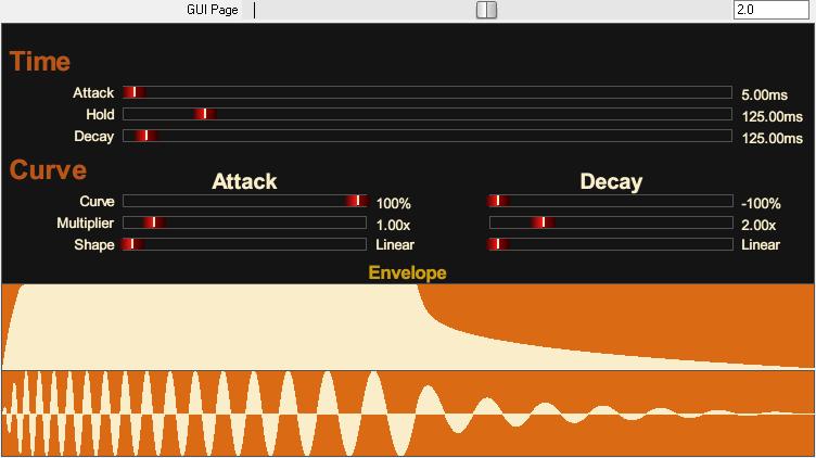 Tone Sweep JSFX 音量包络页面