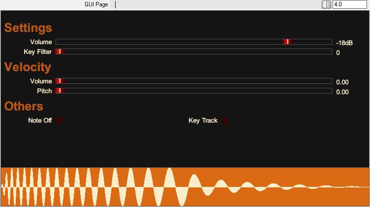 Tone Sweep JSFX 设置页面