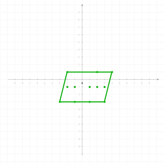 Rectangle ABCD minus triangle EFG on 2D xy-plane