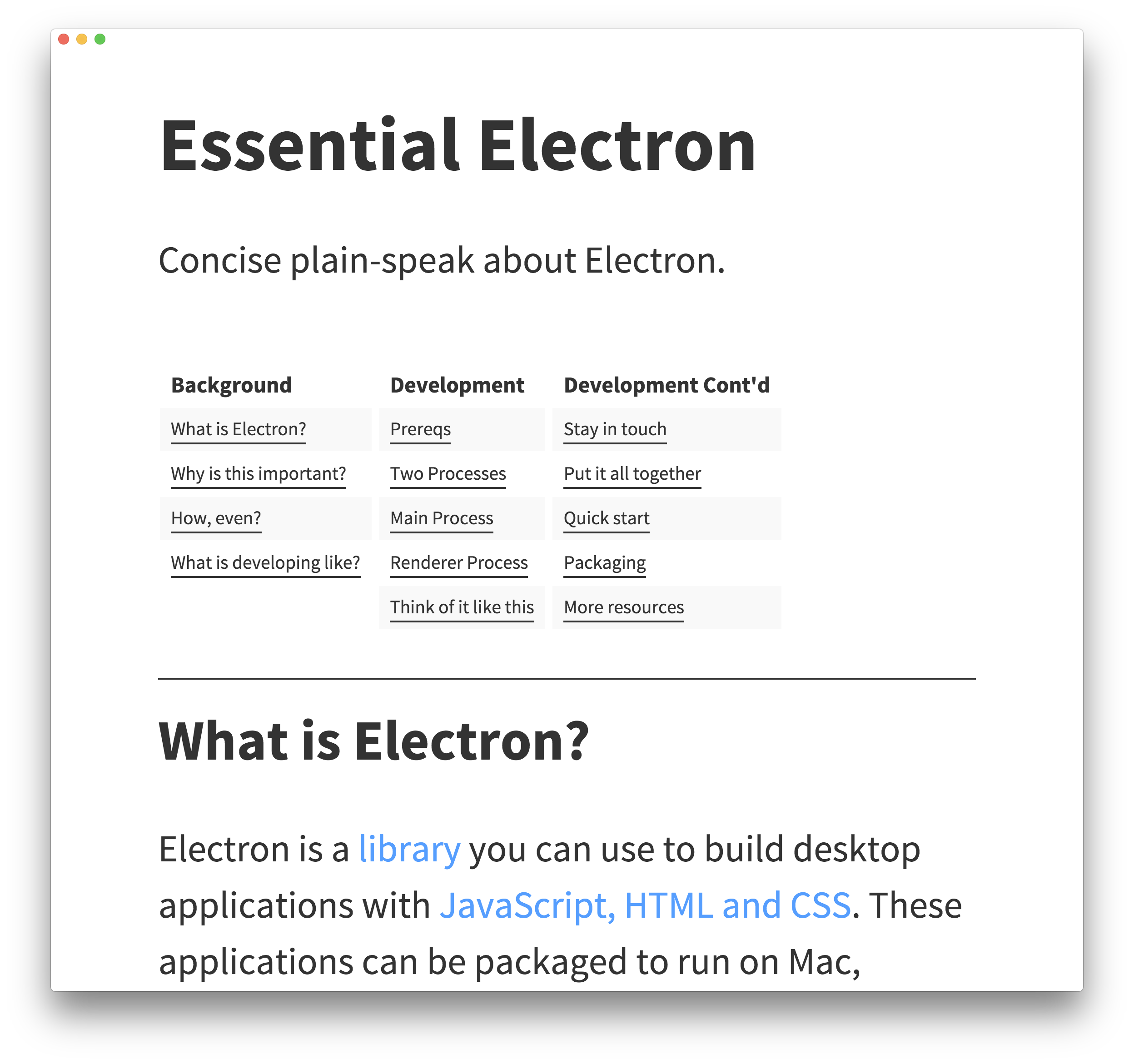 Essential Electron screenshot