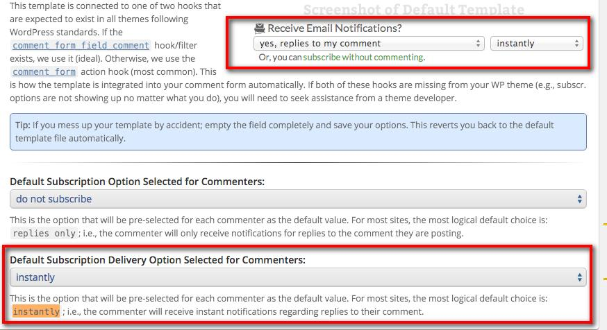 comment mail config options renz s test area wordpress 5