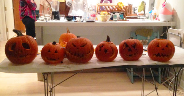 Brooklyn Au Pairs try Pumpkin Carving for the First Time