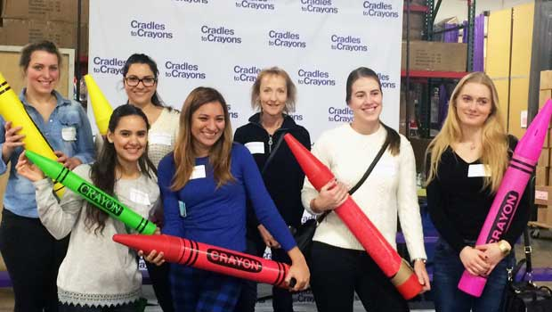 Boston Au Pairs Help Provide Clothes and Toys to Children