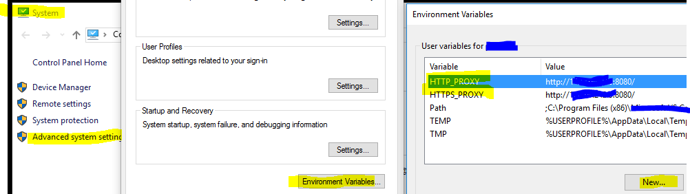 Set Windows Env Var