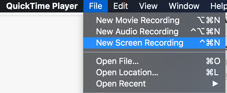 QuickTime: Record screen