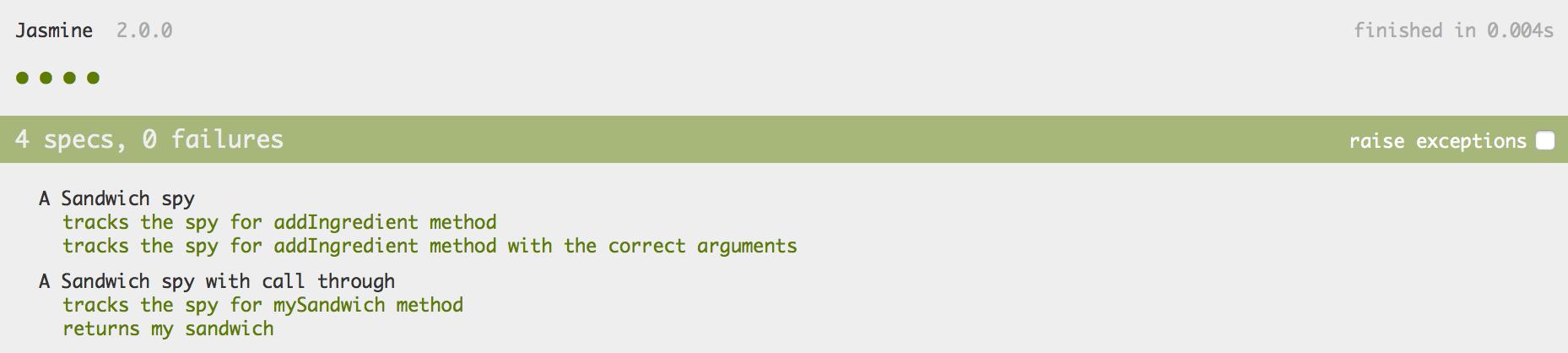 Print da tela mostrando que o teste passou