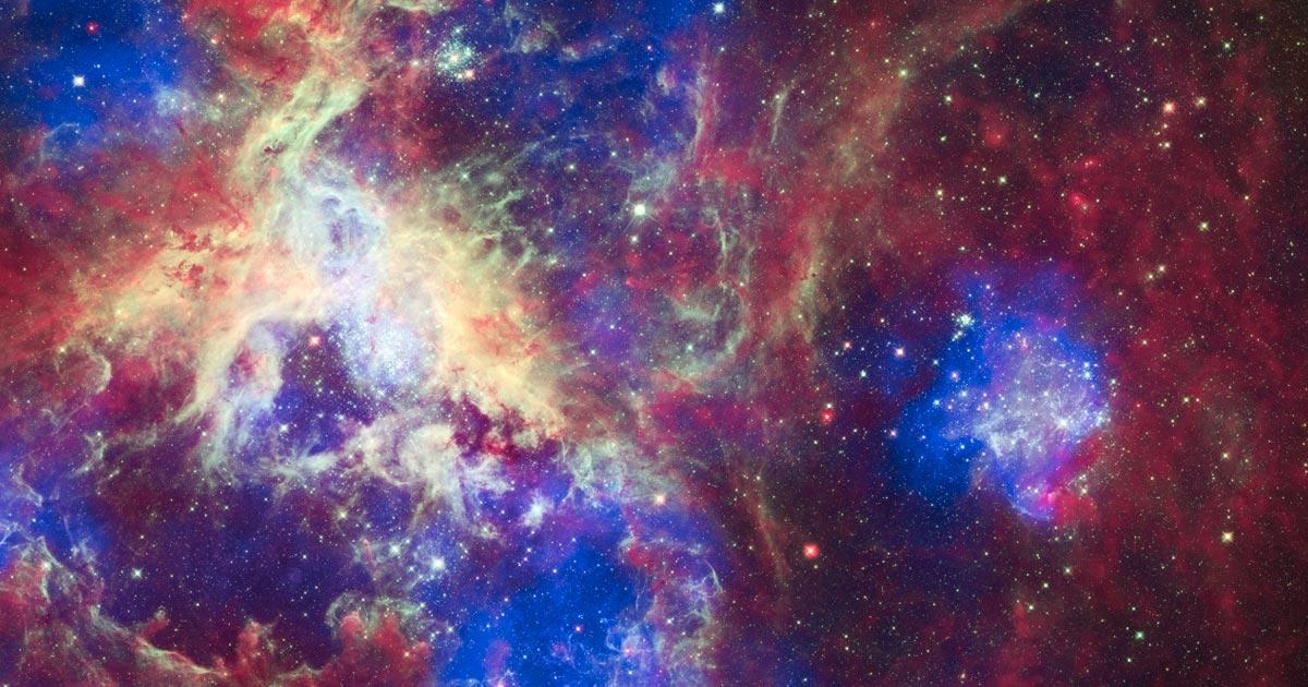 Imagem mostrando o espaço cheio de estrelas