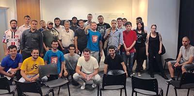 Galera que participou do Meetup de CSS realizado no Scup