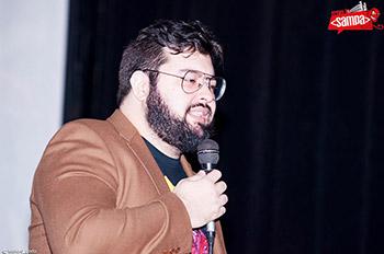Daniel Filho apresentando o evento