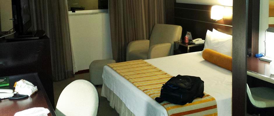 Imagem um quarto do Hotel Quality em Belo Horizonte