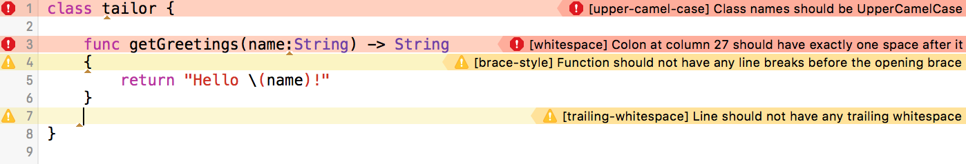 Xcode messages