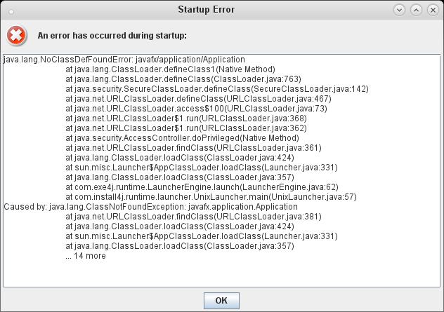 screenshot-startup error