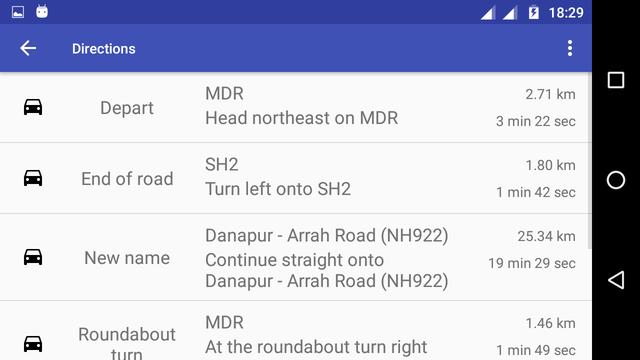 navigation screen landscape