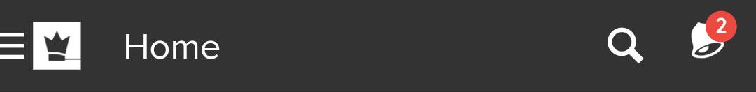 notification menu