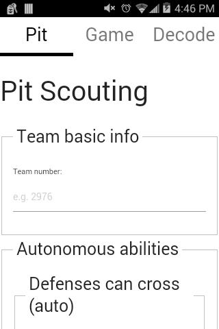 Pit scouting 1
