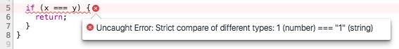 Strict compare error example