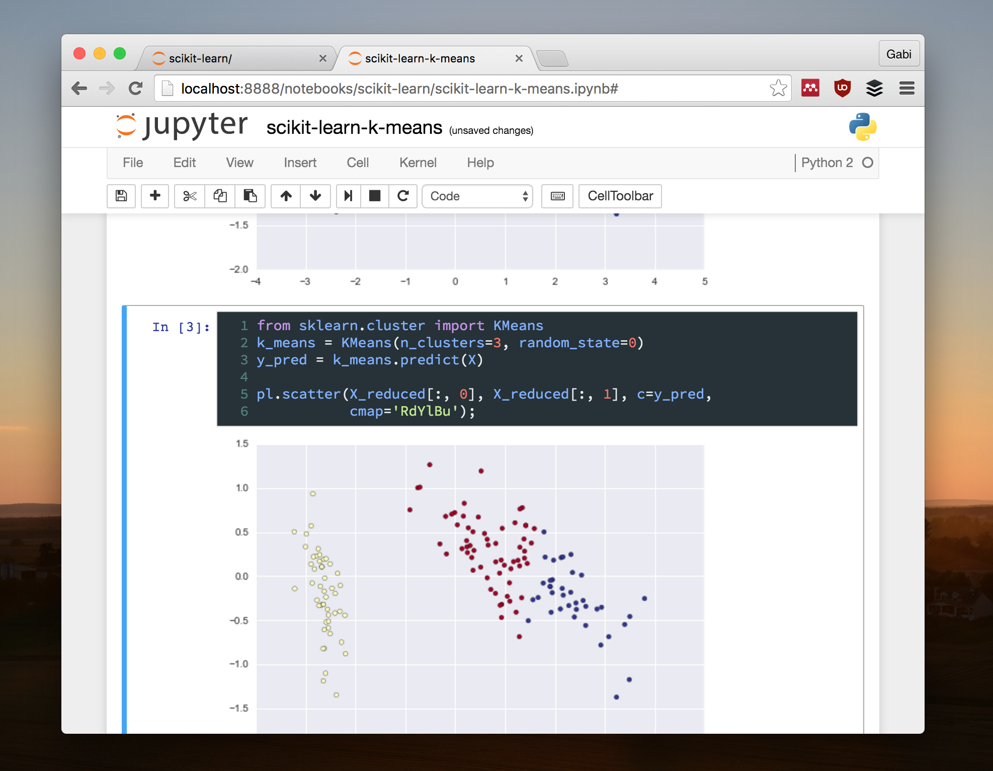 Screenshot of my Jupyter Notebook