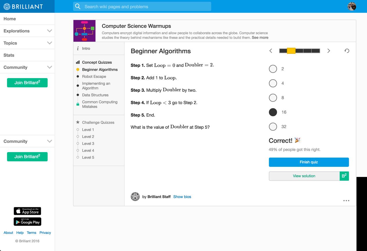 beginner algorithms -- 2