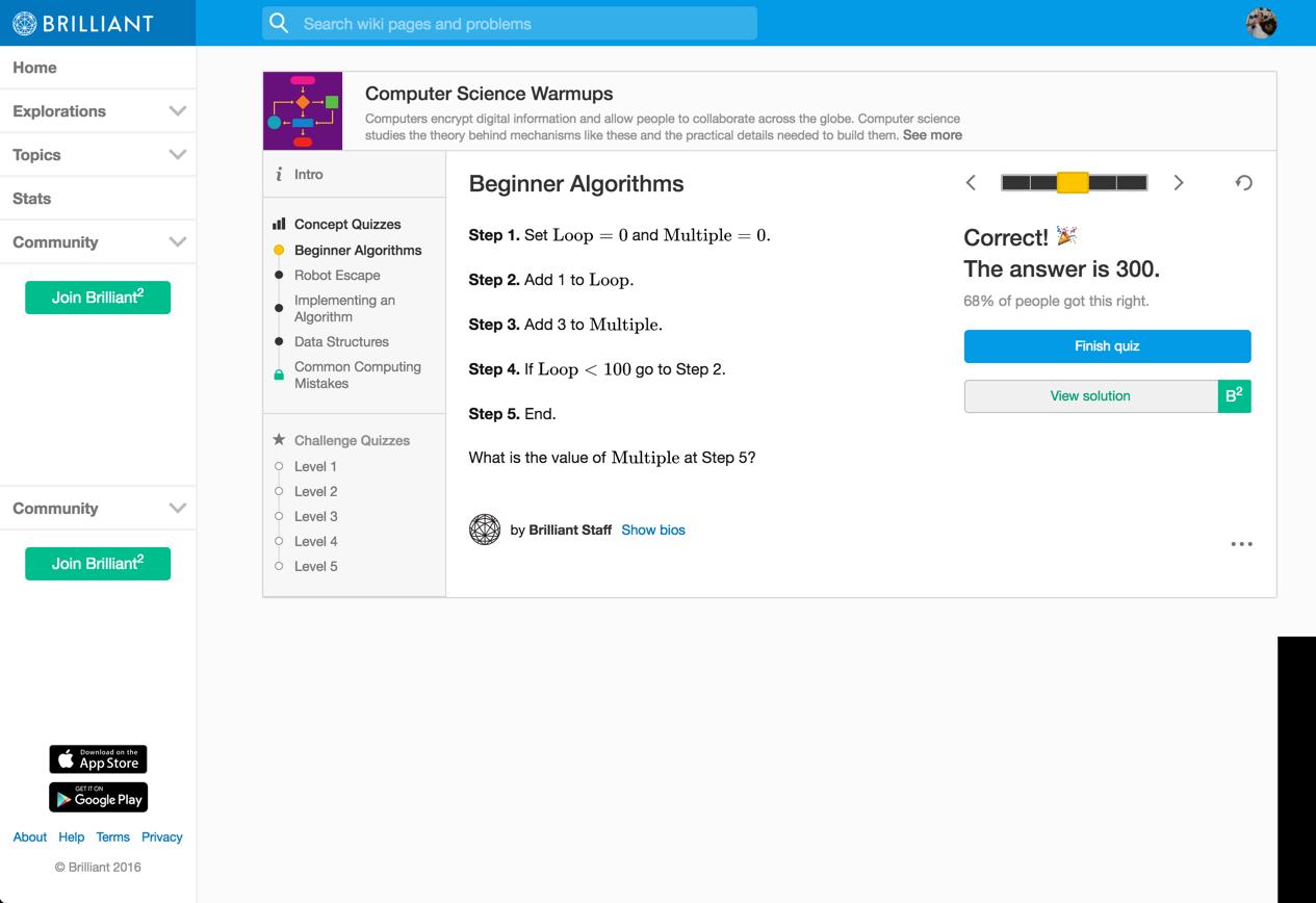 beginner algorithms -- 3