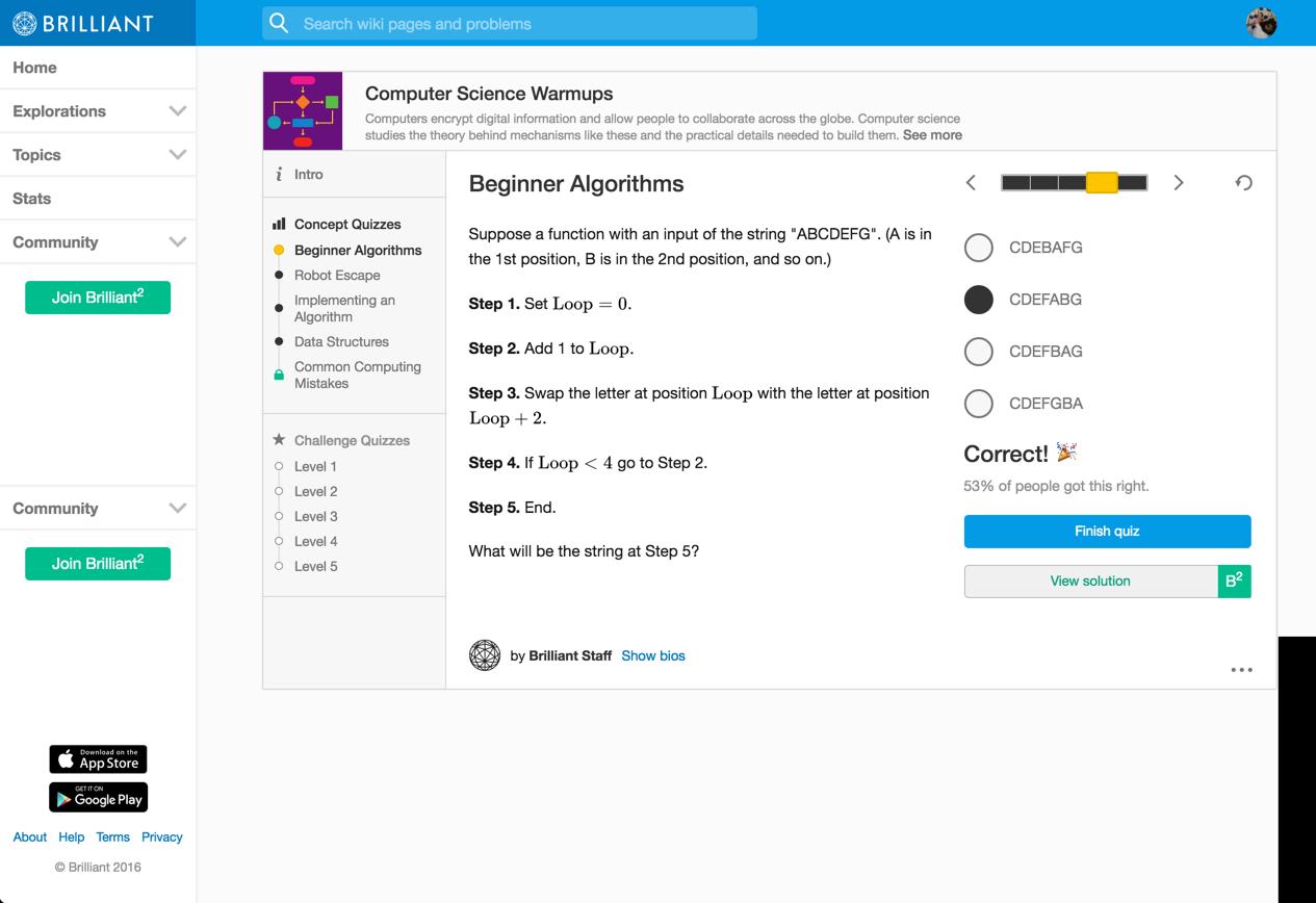 beginner algorithms -- 4