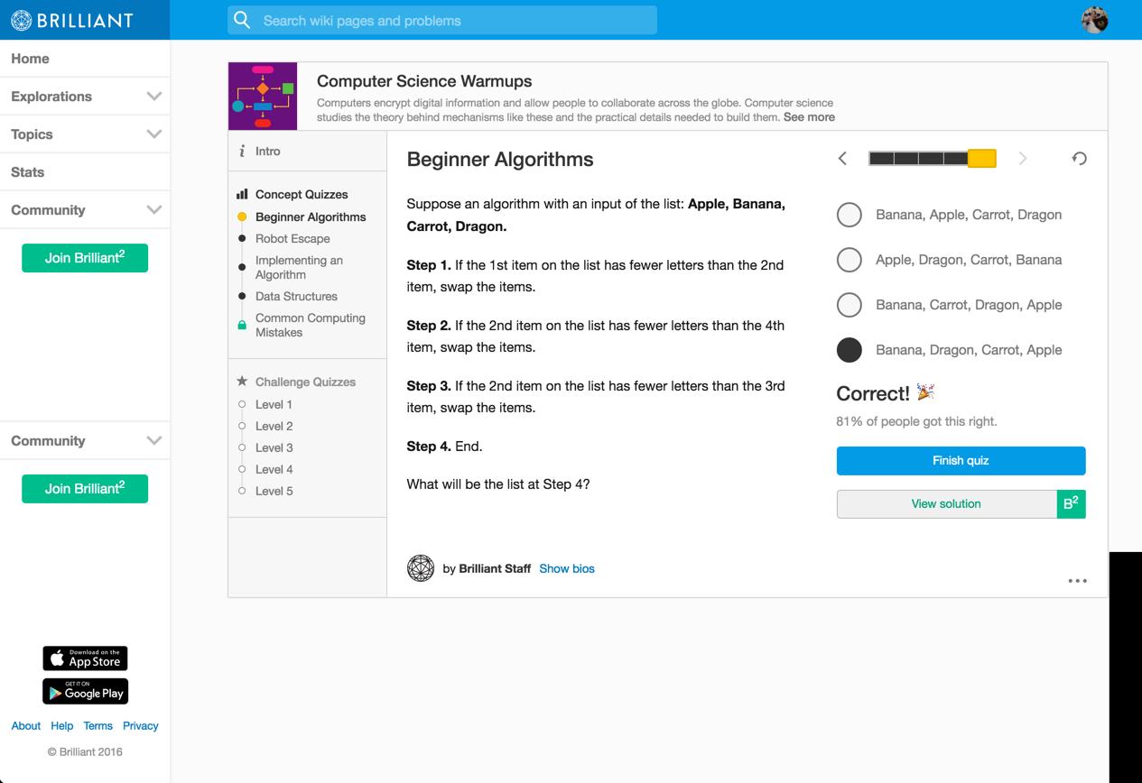 beginner algorithms -- 5