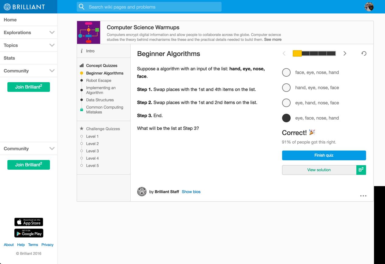 beginner algorithms -- 1