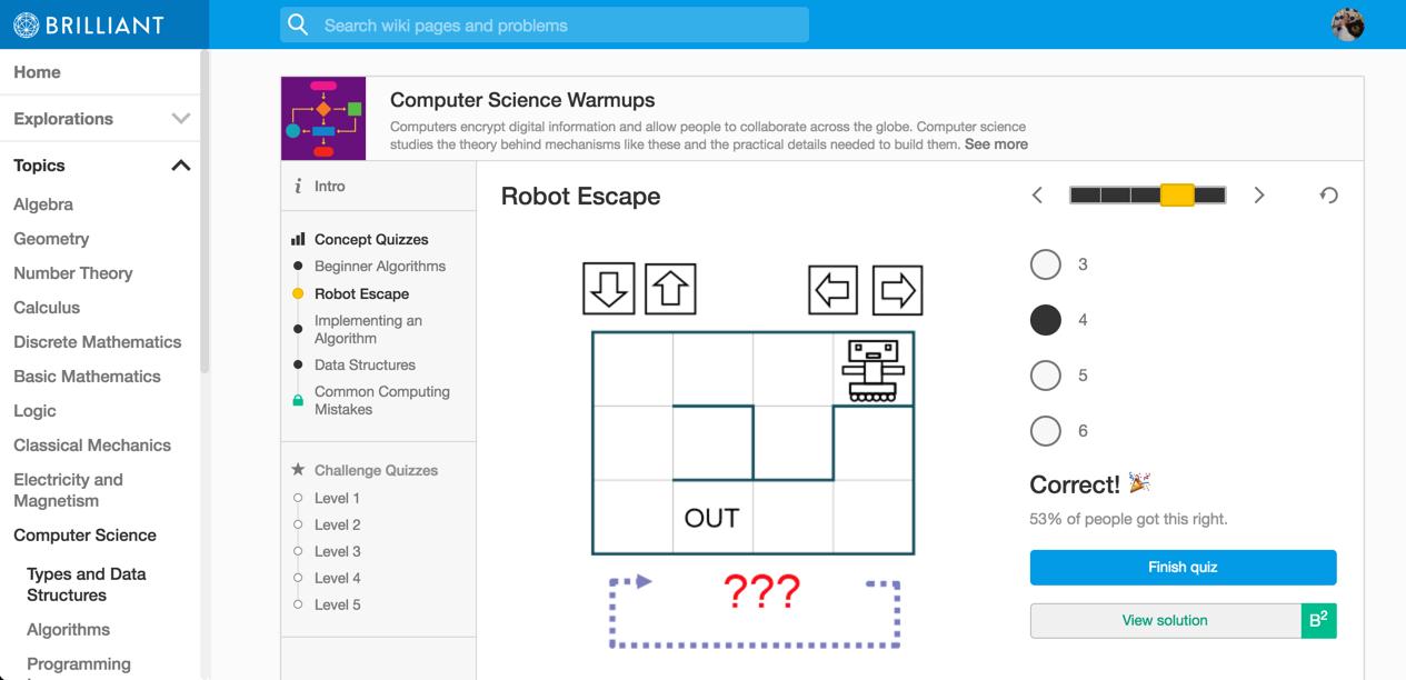 robot escape -- 4