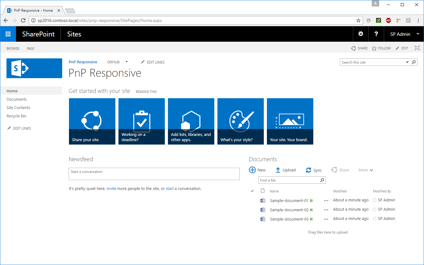SharePoint 2016 - Desktop Mode