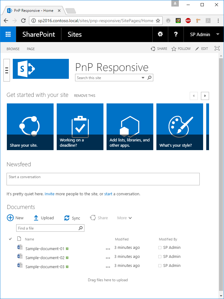SharePoint 2016 - Tablet Mode Collapse