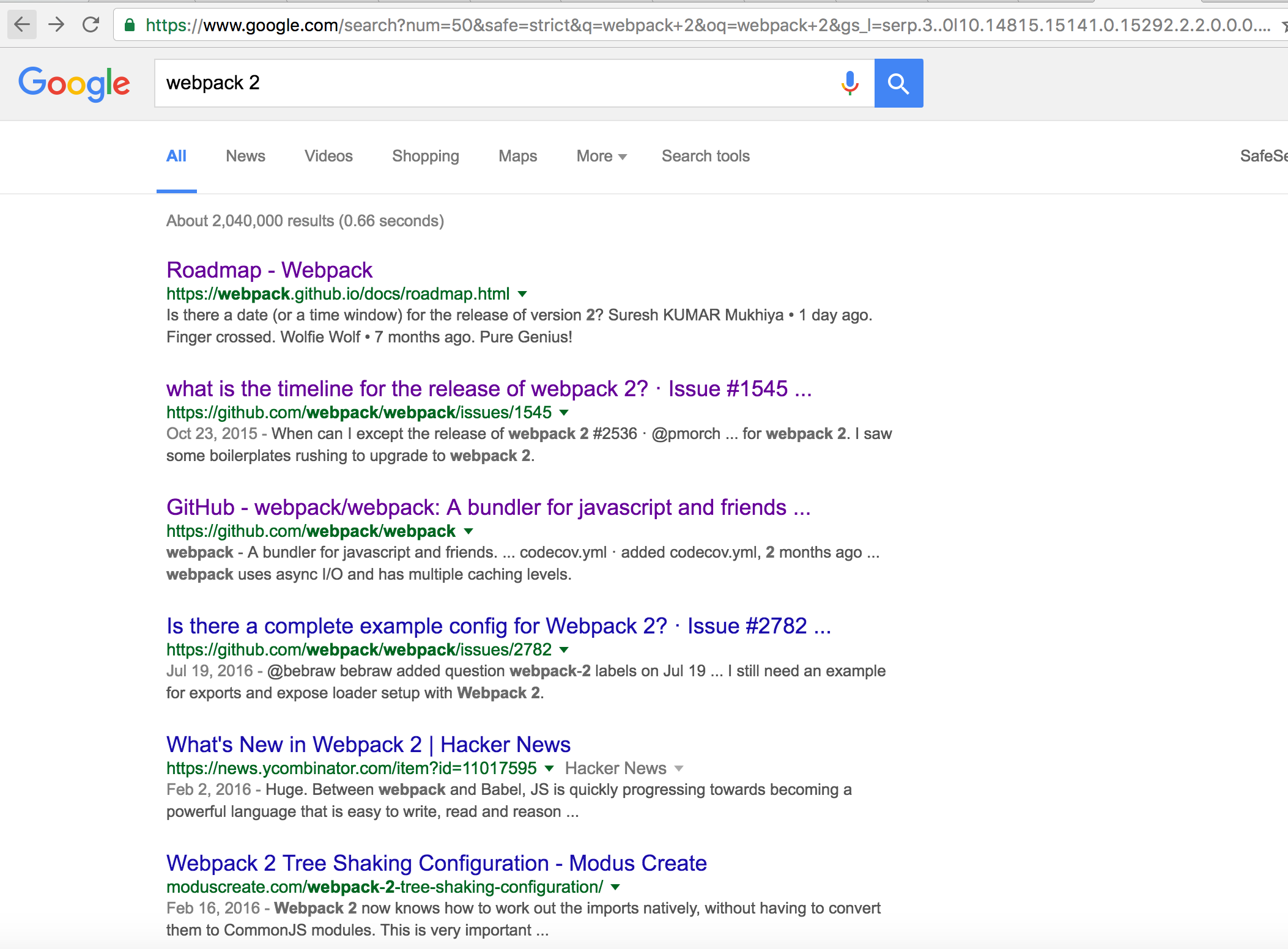 search weppack 2 on google