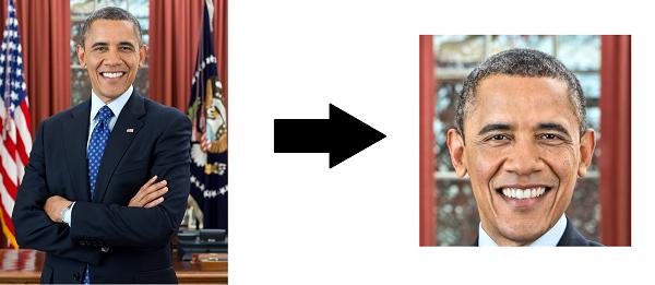 Autocrop Obama crop