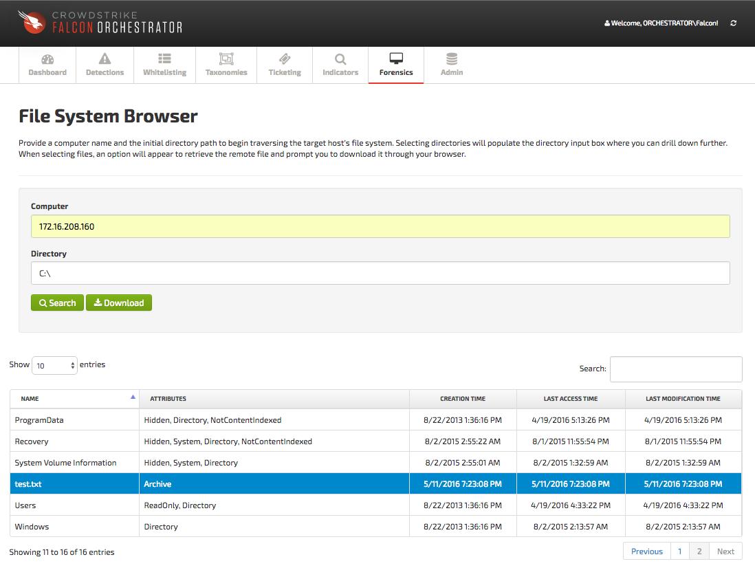 File System Browser