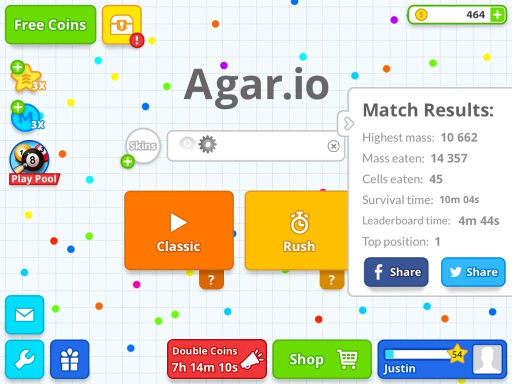 My Agar.io User