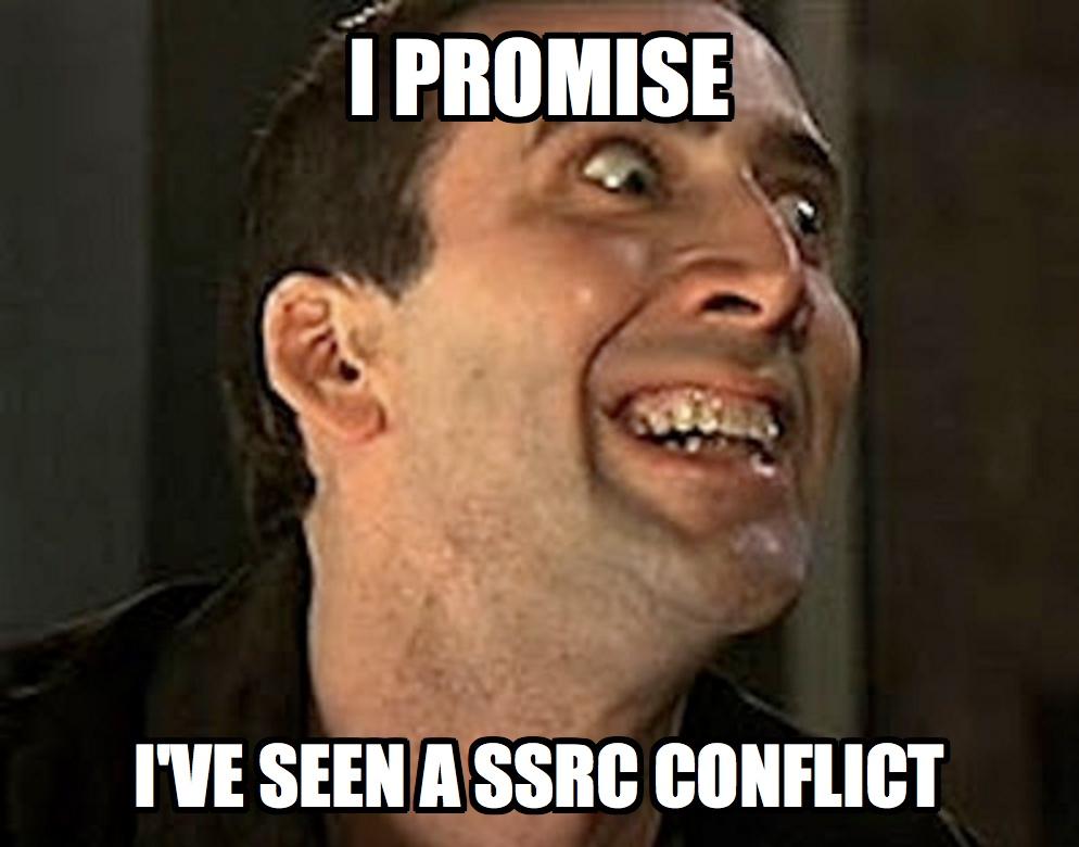 ssrc-conflict