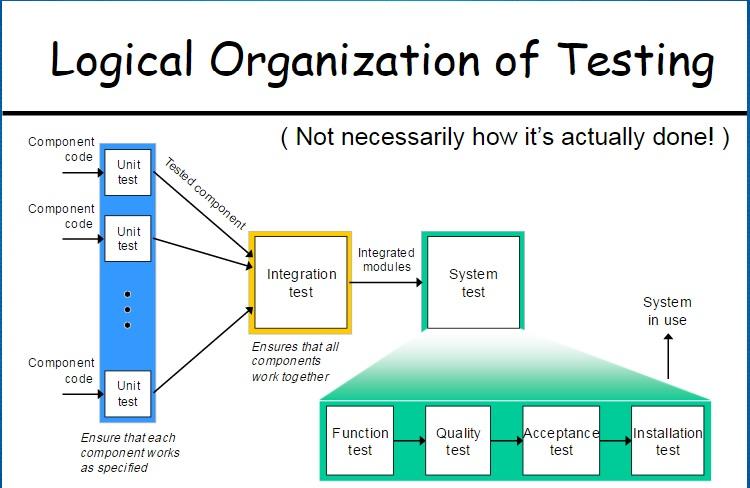 logical organization of testing