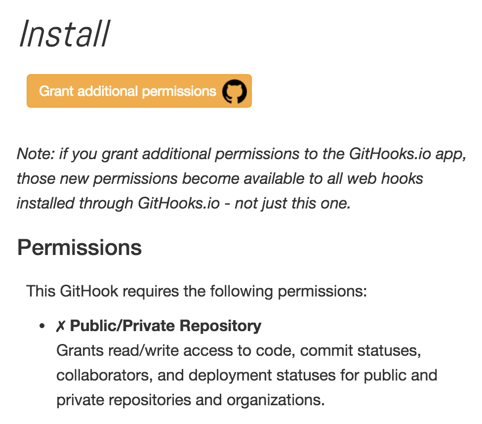 Grant additional permissions