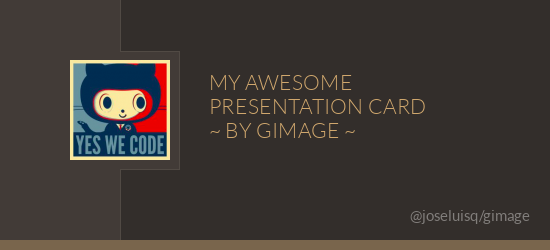 A simple presentation card with GImage