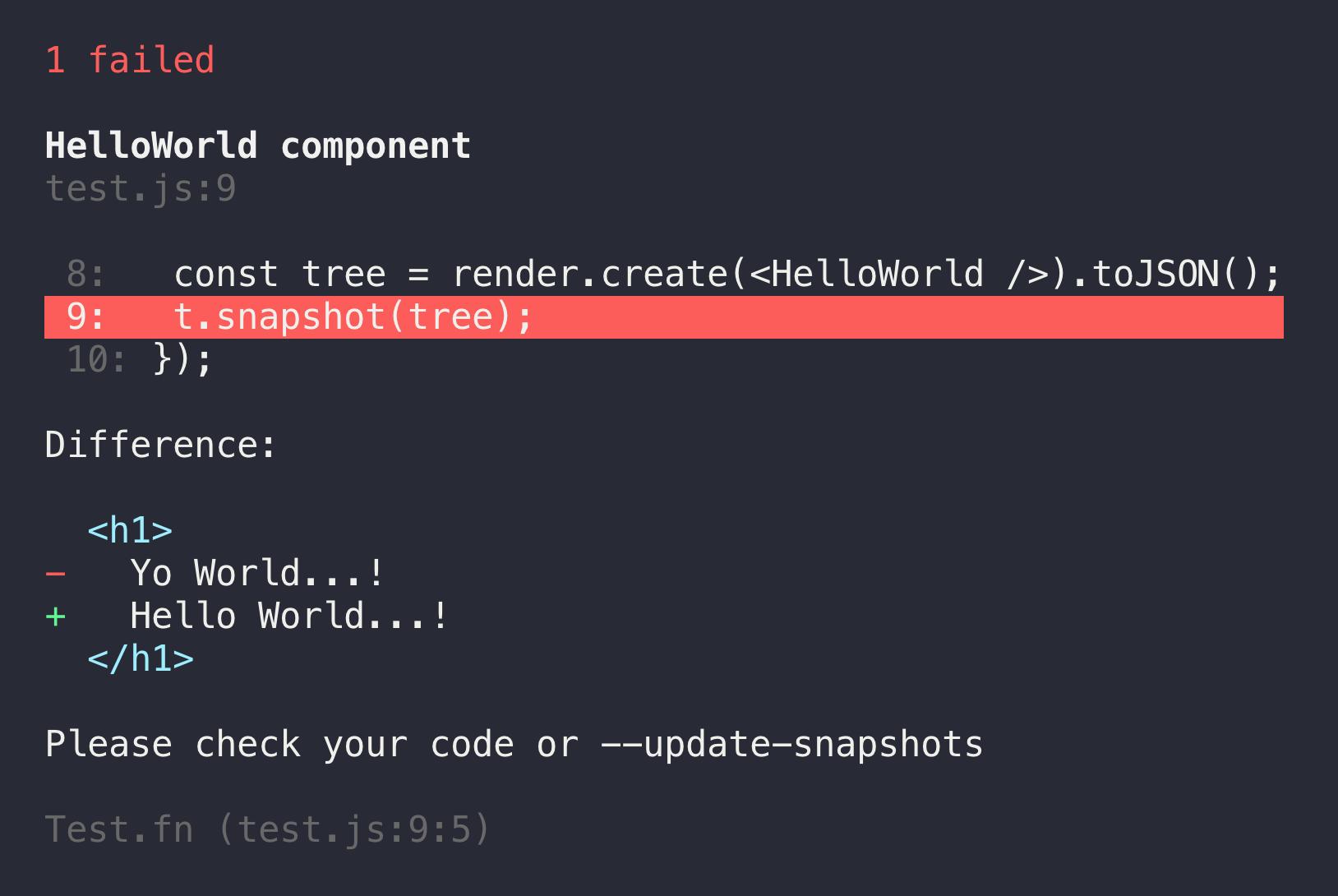snapshot-testing