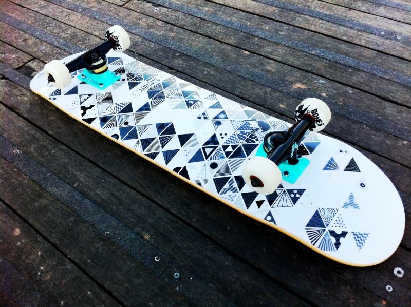 The skateboard I used