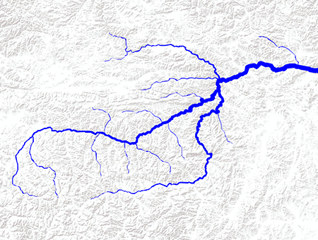 using Leaflet.River