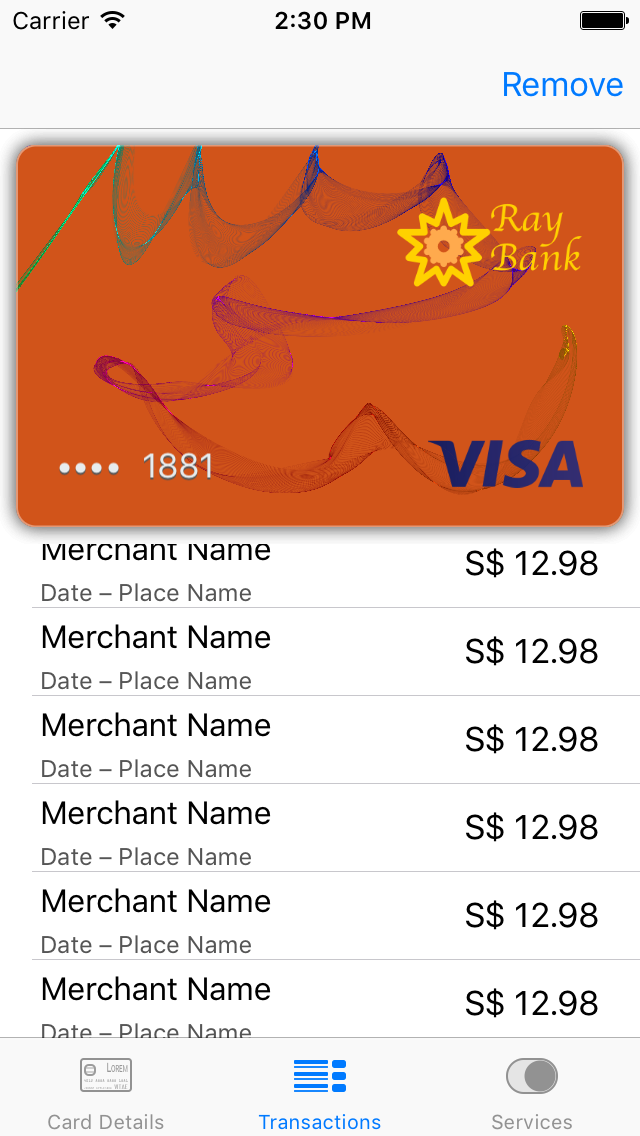 Card Transactions