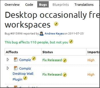 launchpad-bug-page-logged-in