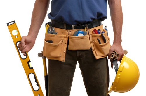 A Man with His Toolbelt