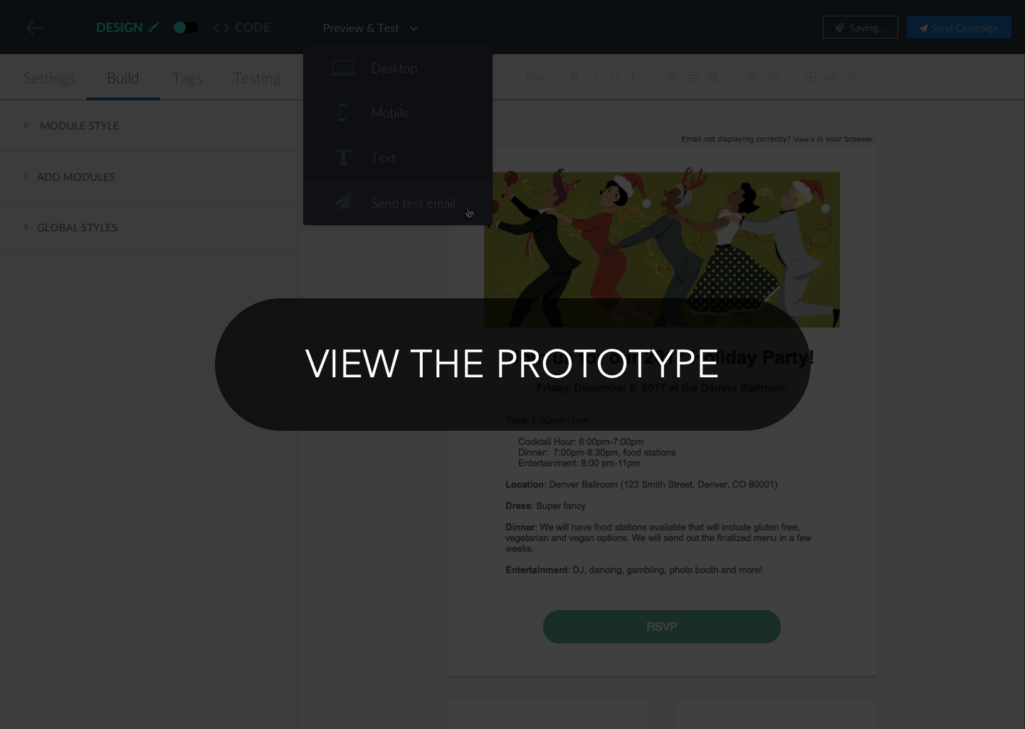 view invision prototype