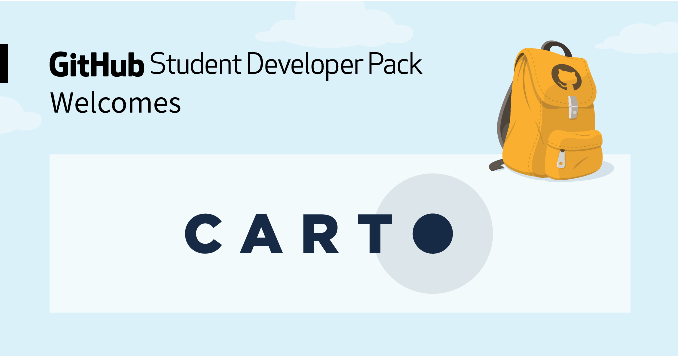 CARTO joins the Student Developer Pack