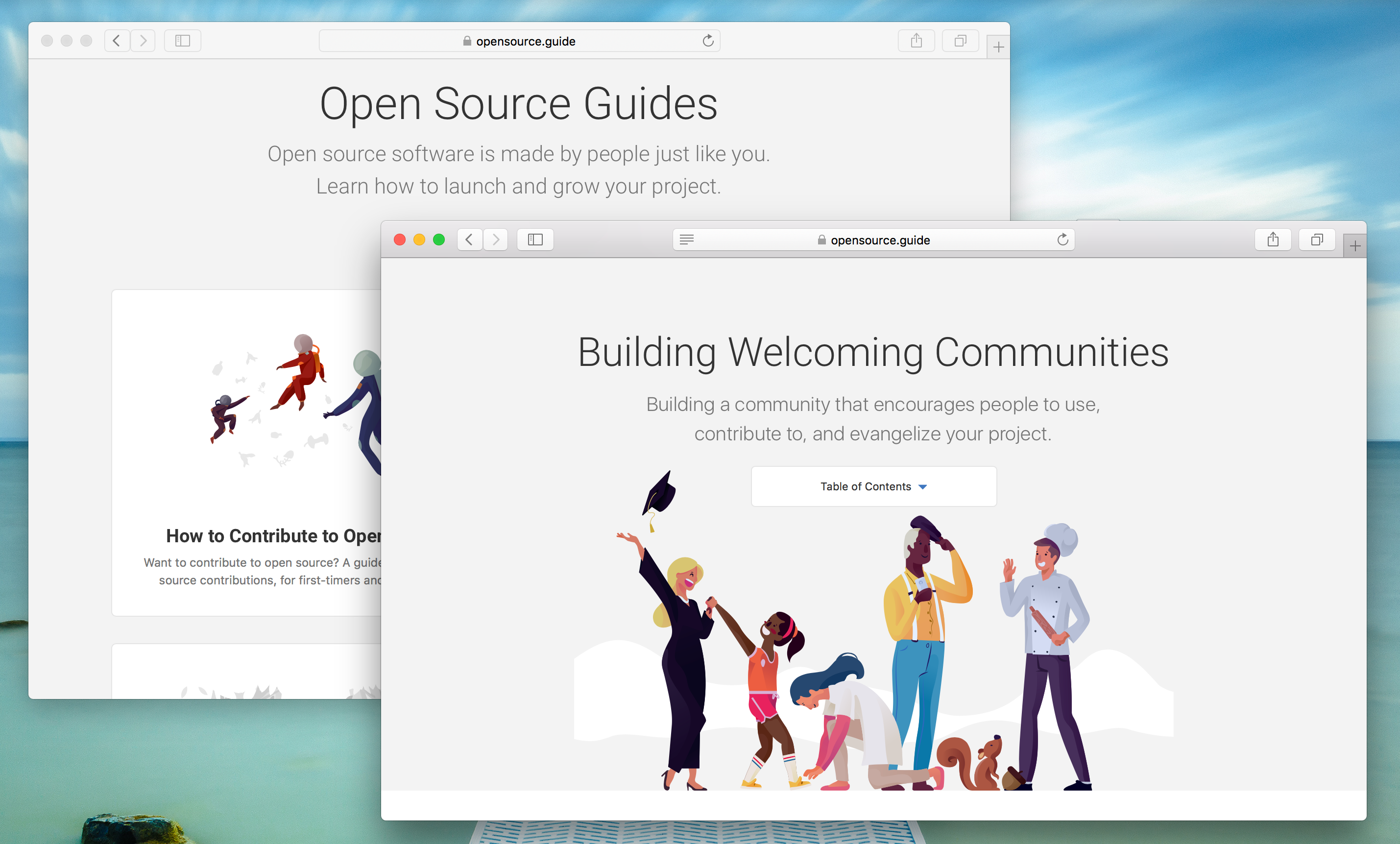 open source guides homepage