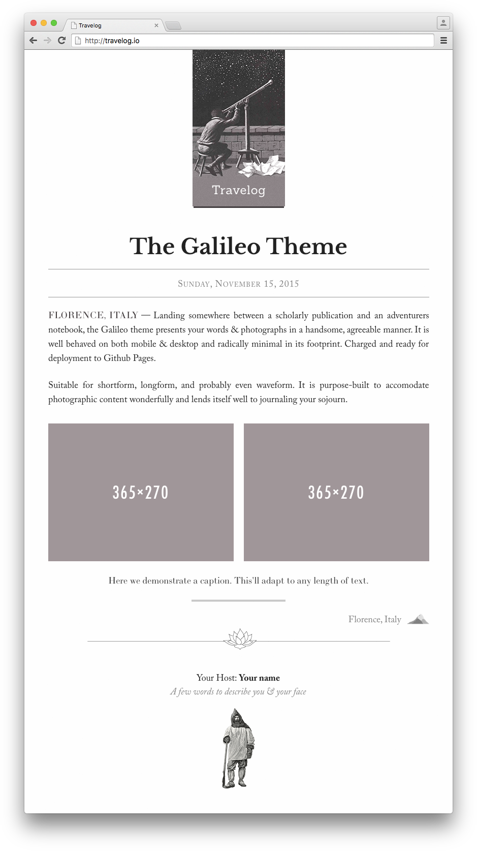 The Galileo Theme
