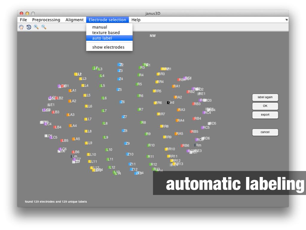 janus3D automatic labeling