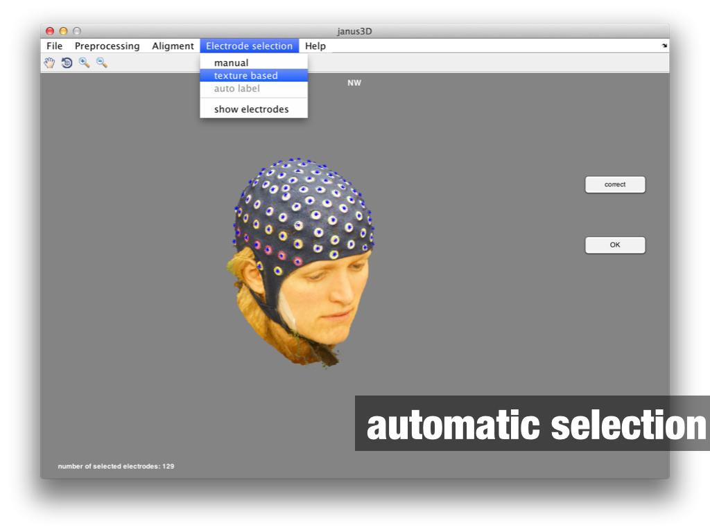 janus3D automatic electrode selection